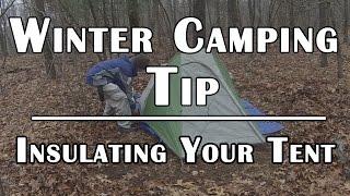 WinterCampingTip-InsulatingYourTentforColdWeather-DerangedSurvival