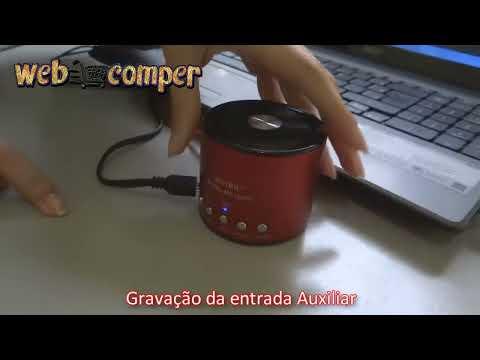 Mini caixinha de som e gravador  Micro USB / USB WS-138RC