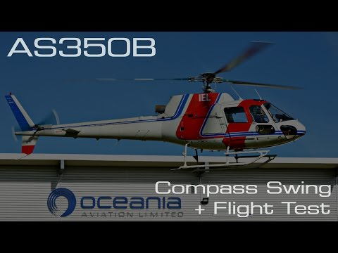 Oceania Aviation | AS350B Compass Swing and Flight Test