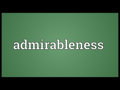 Header of admirableness