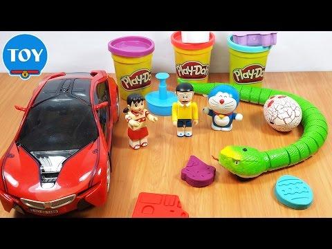 đồ chơi Doremon chế hài - Đất nặn Playdoh biến hình siêu xe Nobita và con rắn khổng lồ thumbnail