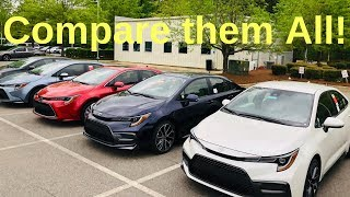 Comparing ALL 2020 Corolla Trim Levels: How to Choose!