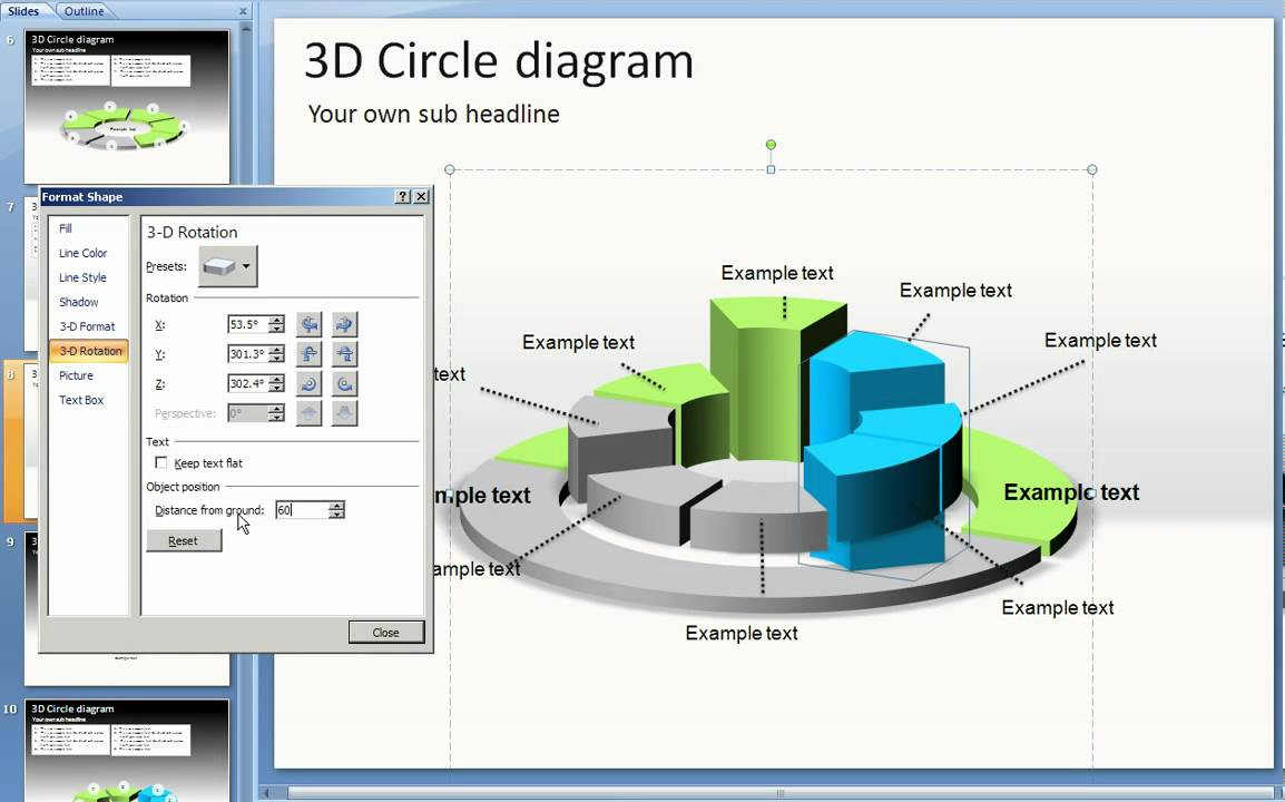 Customize 3d Shapes In Powerpoint Youtube