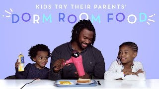 Parents Share Their Dorm Room Food | Kids Try | HiHo Kids