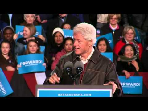President Clinton Introduces President Obama in Bristow, VA - Full Speech