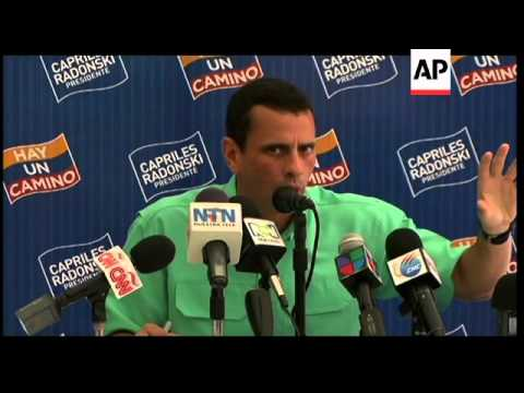 Opposition leader Capriles heads into first opposition primary