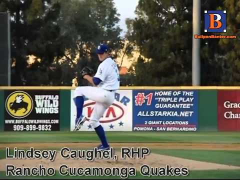 LINDSEY CAUGHEL, RHP, RANCHO CUCAMONGA QUAKES, PITCHING MECHANICS 200 FPS