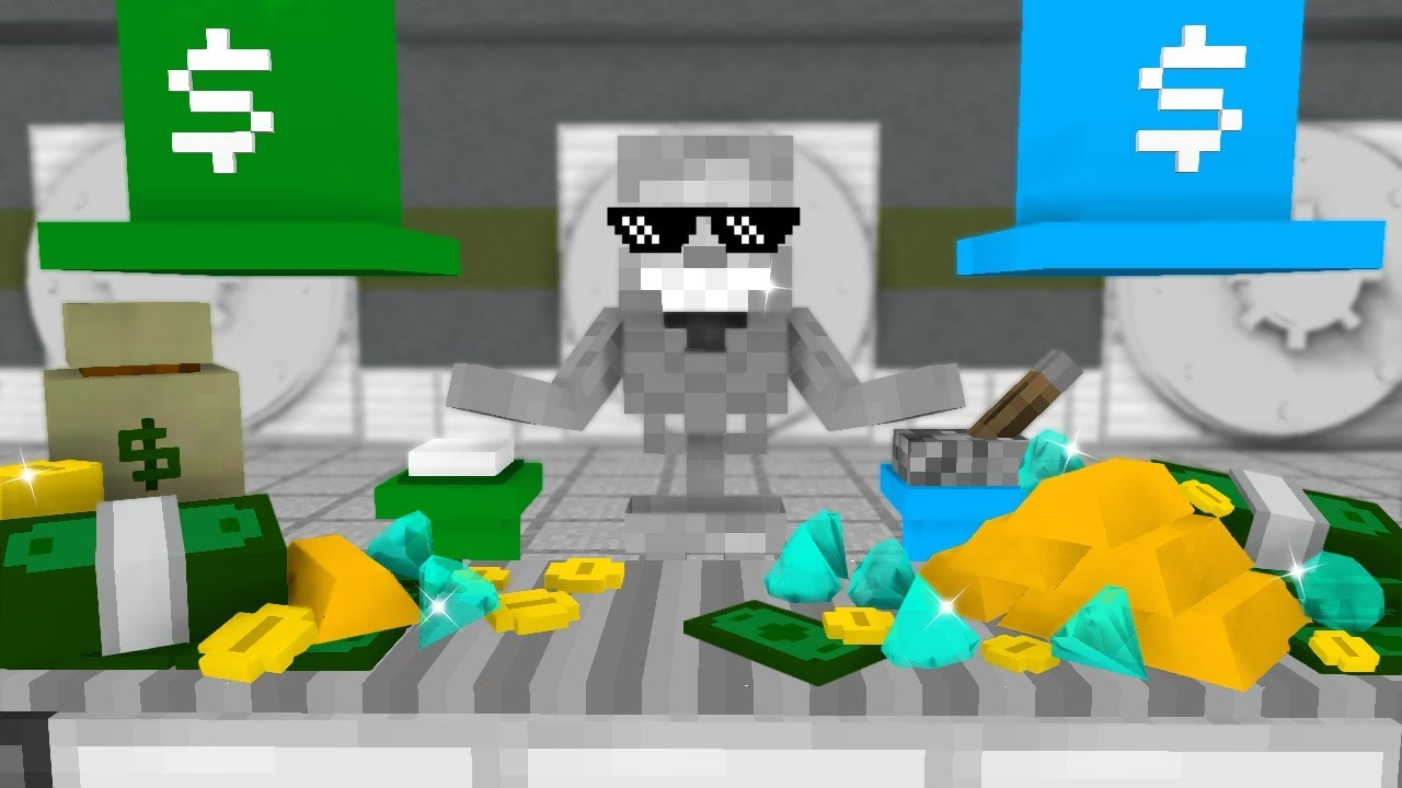 Monster School: WORK AT MONEY FACTORY! - Minecraft Animation