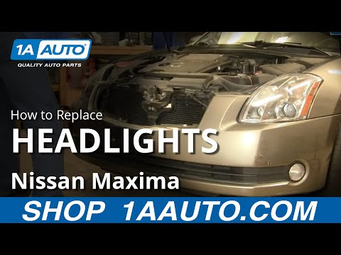 How To Install Replace Headlight and Bulb Nissan Maxima 04-08 1AAuto.com
