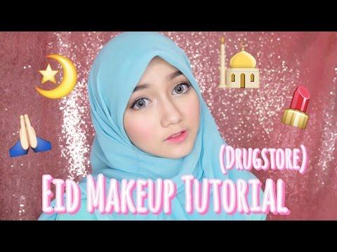 (DRUGSTORE) EID MAKEUP TUTORIAL FOR BEGINNER    Makeup Lebaran