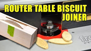Turn Your Router Table into a Biscuit Joiner - Slotting Router Bits