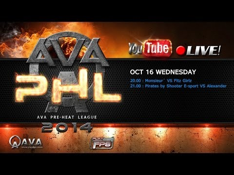 AVA PHL 2014 - รอบเก็บคะแนน [ Monsieur` VS Fitz Girlz และ Pirates by Shooter E-sport VS Alexander]