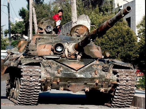 Syria, in 2013. Compilation videos on the subject of tanks. The tanks in the fighting in the city. Tank battles in Syria in the first person. Syria in 2013. ...