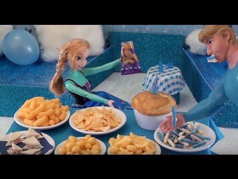 Fête d'anniversaire d'Elsa la reine des neiges, fête surprise avec les princesses Disney et Frozen