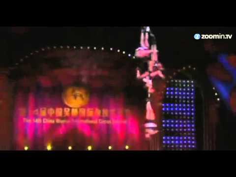 Acrobatas internacionais se reúnem em festival na China