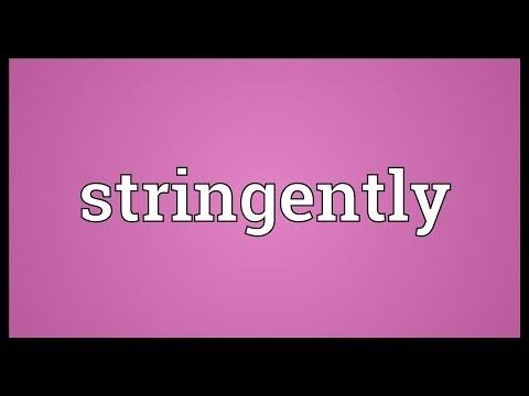 Header of stringently