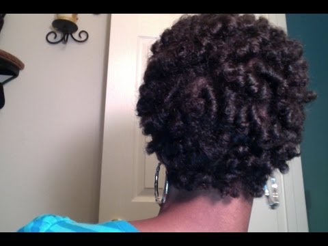 set my short natural hair on perm rods. After applying Giovanni ...