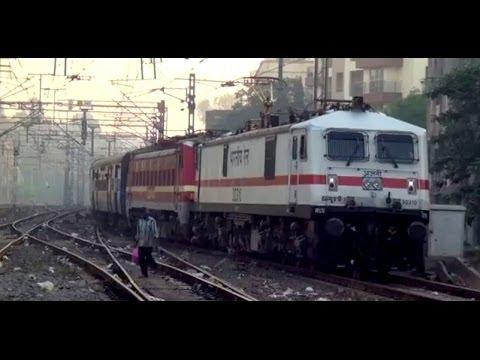 First Day First Show - Ajni Wap-7 + Src Wap-4 With Samarasata Express Steps Into Electrifying Mumbai video