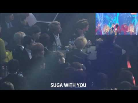 [170119] BTS reaction to NCT 127 - Fire Truck + Limitless @ SMA