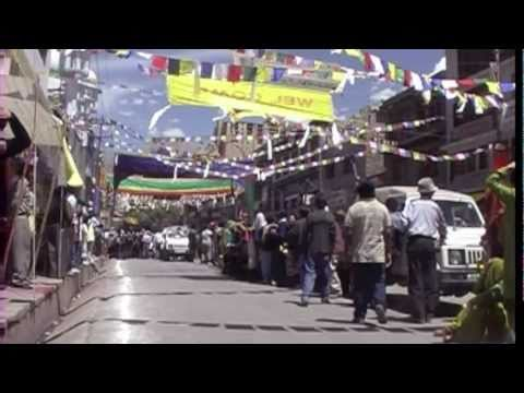 HISTORY of  LEH   LADAKH  INDIA part two dalai lama in LEH
