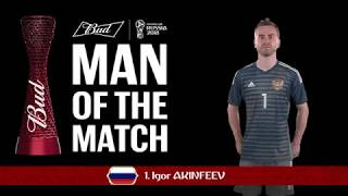 Igor AKINFEEV (Russia) - Man of the Match - MATCH 51