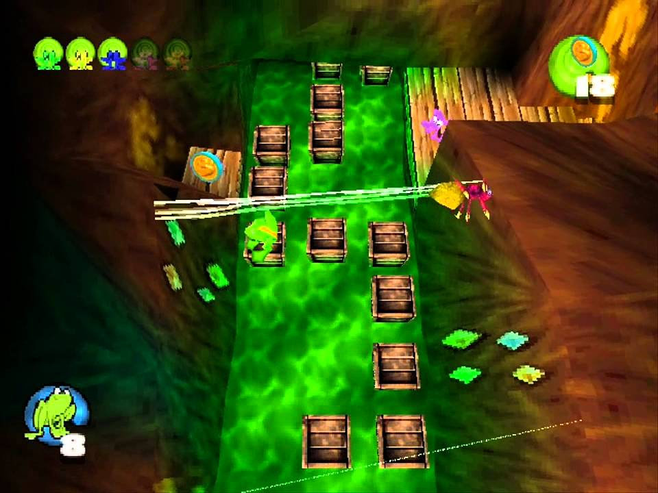 Frogger 2: Swampy's Revenge (PS1) - Level 3 - The Gold Mine (PL ...