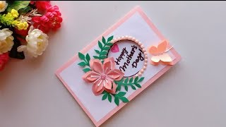 Handmade Mother's Day card / Mother's Day pop up card making