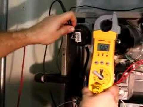 Checking the pressure switch on a gas furnace