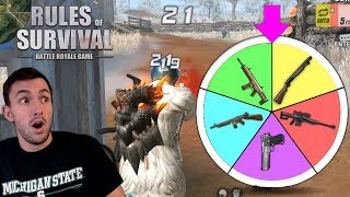 SPIN THE WHEEL OF WEAPONS IN RULES OF SURVIVAL!