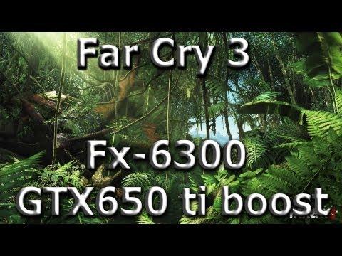 Тестирование Far Cry 3 FX-6300 gigabyte gtx 650 ti boost 2gb 1080p