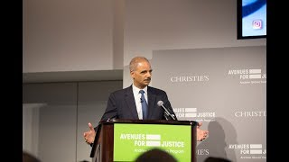 2018 Second Chance Awards Dinner Honoree Eric Holder