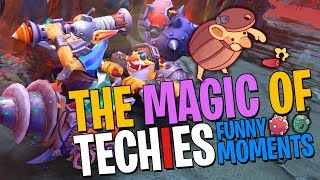 The Magic of Techies - DotA 2 Funny Moments