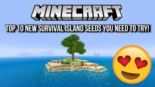 Minecraft - Top 10 New Survival Island Seeds You NEED To Try! (Minecraft PS4, Xbox One,PS3,Xbox 360)