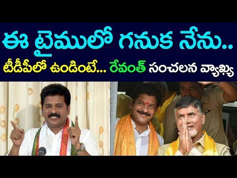 Revanth Reddy Comments CM Chandrababu and TDP, Congress, KCR