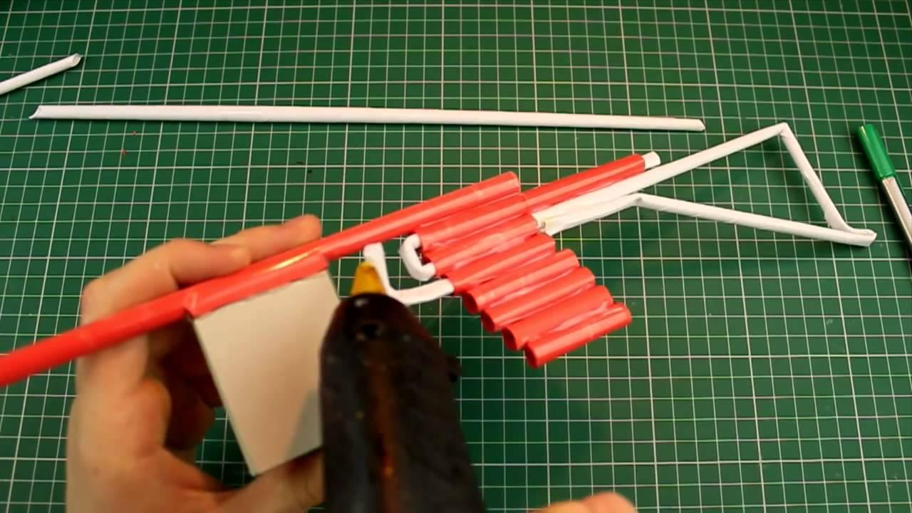 Как Сделать Автомат Из Бумаги Стреляющий 8
