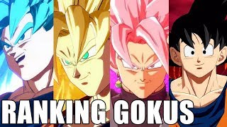 Ranking the Gokus from Best to Worst!!!!! Which Goku Is Strongest??