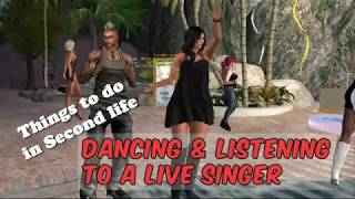 Things to do in Second life: Dance & listen to a live singer (FREE Abranimations 60s Dance)