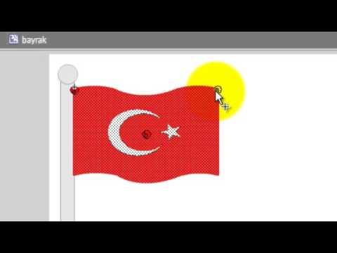 Flash cs5 shape kullanımı türk bayrağı istiklâl marşı