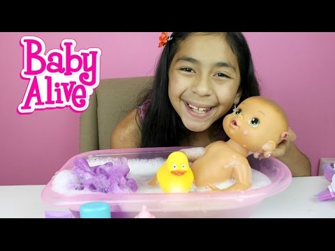 Baby Alive Doll Bath Time Doll Review and Play  B2cutecupcakes