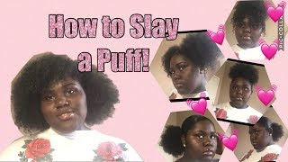 5 Easy Cute Puff Hairstyles Tajah Symone