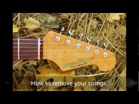 How to install strings on a set of Gotoh vintage locking tuners.