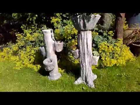 Pflanzsäule Aus Beton Tücher Und Plastikrohr Einfach Selber Machen