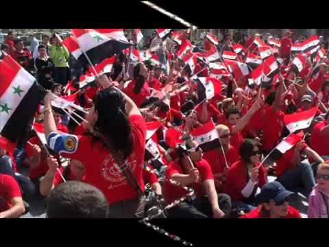 2012 SURİYE HİPAP MÜZİK EL ESAD SENİNLEYİZ حاربوك يا اسد سوريا.SYRİA