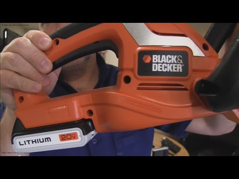 Black & Decker 20V Cordless Hedge Trimmer Unboxing
