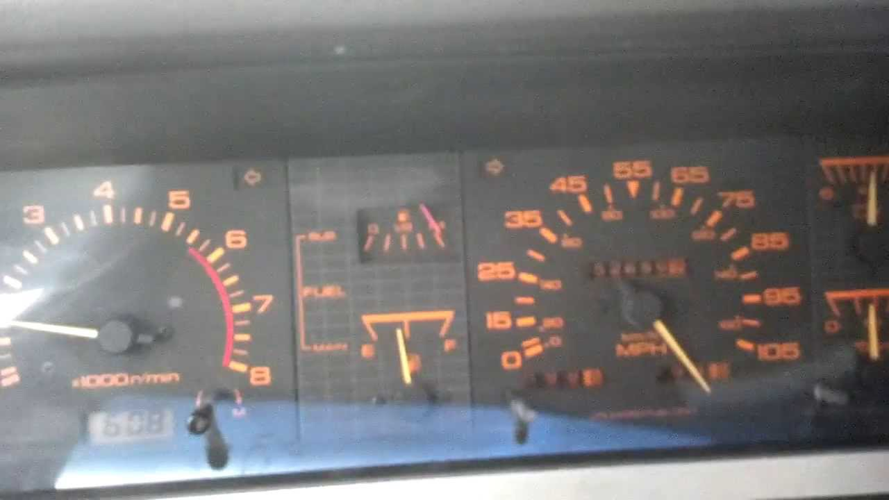 Nissan Hardbody D21 Speedometer Oddities Youtube