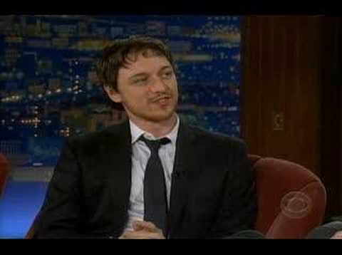 James McAvoy on the Late Late Show