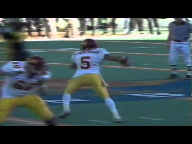 Oregon safety Dietrich Moore forces a fumble vs. Minnesota in 1999 Sun Bowl 12-3-1999
