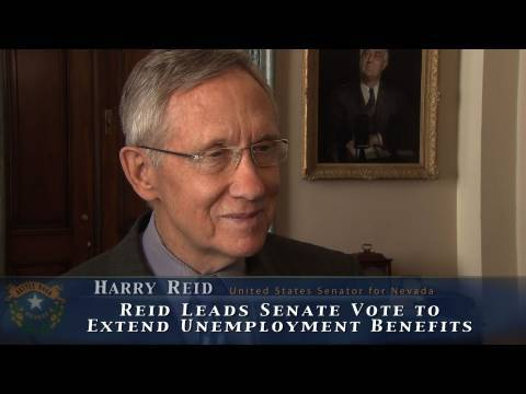 Reid Leads Senate Vote to Extend Unemployment Benefits