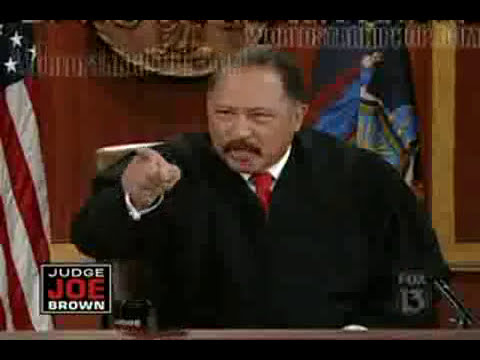 Judge joe brown getting cursed out!