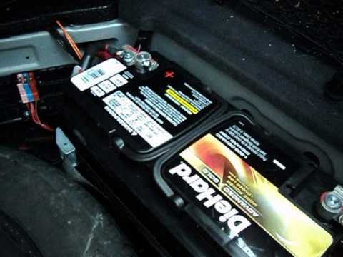 mercedes-benz cls 500/550 main battery change and location